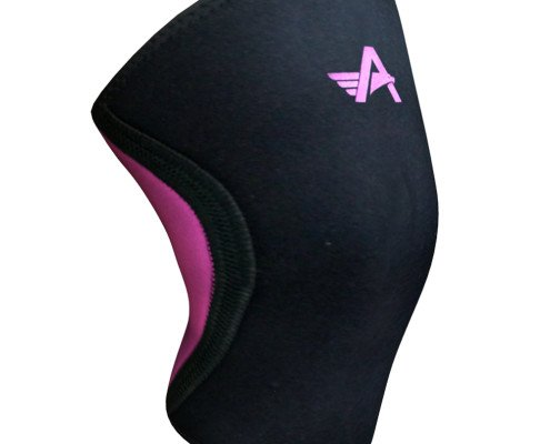 Athlos Fitness 5mm Neoprene Compression Knee Support Sleeve Black/Pink